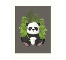 High panda Art Print