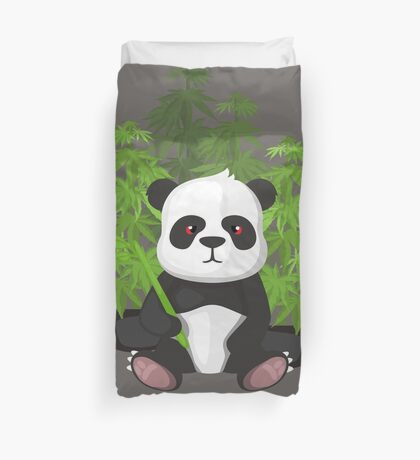 High panda Duvet Cover