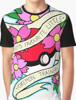 Daddy's Favourite Little Pokemon Trainer Graphic T-Shirt