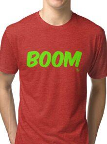 Boom (green) Tri-blend T-Shirt