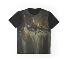 Still life with fruits and fresh flowers Graphic T-Shirt
