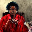 Self Portrait with Serena 2014 by Monica Vanzant