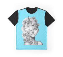 Fleeting Thoughts Blue Graphic T-Shirt