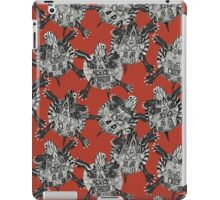 turtle party coral red iPad Case/Skin