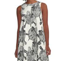 turtle party ivory black A-Line Dress