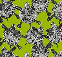 turtle party lime by Sharon Turner