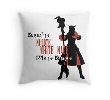 Miqo'te White Mage (Female) Throw Pillow