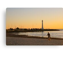 St Kilda Beach Sunset Canvas Print