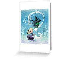 Defying Gravity and Letting Go Greeting Card
