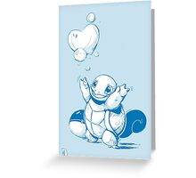 Squirtle Pokemon with Pokeball Greeting Card