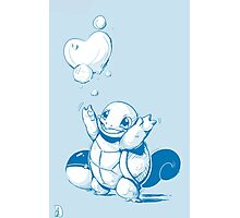 Squirtle Pokemon with Pokeball Photographic Print