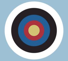 Bulls Eye - Right on Target - Roundel, on Blue by TOM HILL - Designer