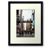New York Sunset Framed Print