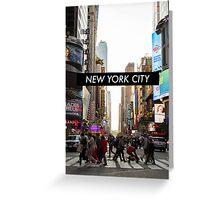 New York Sunset Greeting Card
