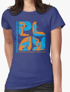 P+L+AY Poses: Orange & Cyan Womens Fitted T-Shirt