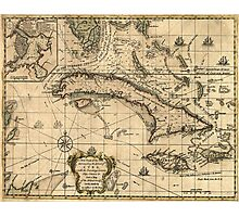 Vintage Map of Cuba (1762) Photographic Print