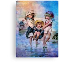 BEACH FUN AT SUNSET Canvas Print