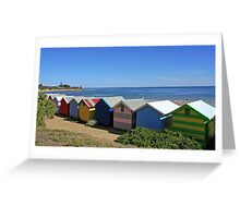 Brighton Beach Boxes - Victoria - Australia Greeting Card