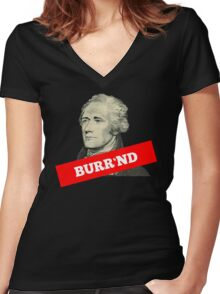 Burr'nd Women's Fitted V-Neck T-Shirt