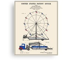 Ferris Wheel Patent Canvas Print