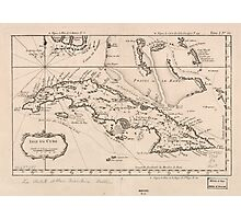 Vintage Map of Cuba (1764) Photographic Print