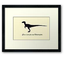 A Treachery of Dromaeosaurs Framed Print