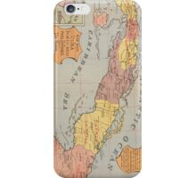 Vintage Map of Cuba (1898) 3 iPhone Case/Skin