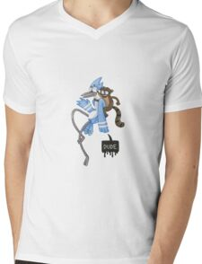 Regular Show Mens V-Neck T-Shirt