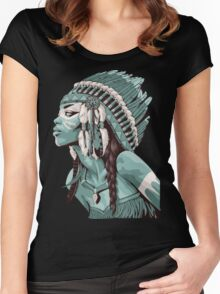 Native Americans  Women's Fitted Scoop T-Shirt