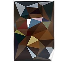 Brown and Blue Triangles Poster