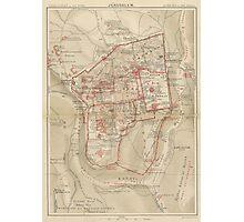 Vintage Map of Jerusalem Israel (1896) Photographic Print
