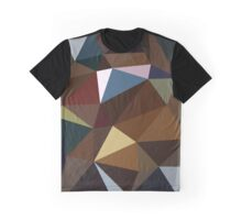 Brown and Blue Triangles Graphic T-Shirt
