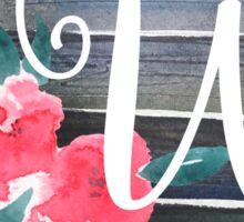Floral Monogram W Sticker