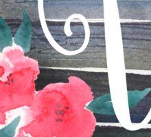 Floral Monogram V Sticker