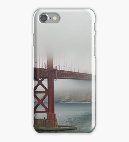 The Golden Gate Bridge On A Foggy Afternoon iPhone Case/Skin