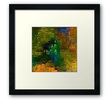 65 trees, green view Framed Print