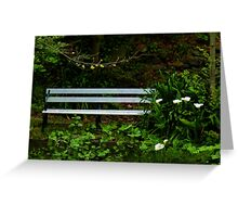 Secluded Seating Greeting Card