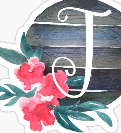 Floral Monogram J Sticker