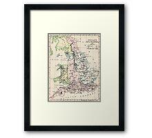 Vintage Map of England (1892) Framed Print