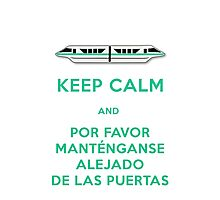 Monorail- Keep Calm (Teal) Photographic Print
