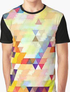 Multicolor triangles Graphic T-Shirt
