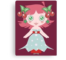 Cute Cherry Girl Canvas Print