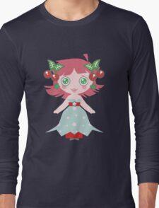 Cute Cherry Girl Long Sleeve T-Shirt