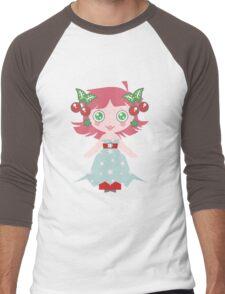 Cute Cherry Girl Men's Baseball ¾ T-Shirt
