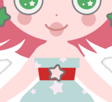 Cute Cherry Girl Sticker