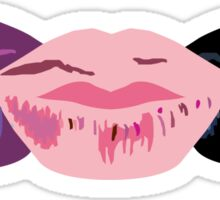 3 Lips Horizontal Sticker