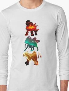 the legendary trio (beasts) Long Sleeve T-Shirt