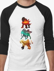 the legendary trio (beasts) Men's Baseball ¾ T-Shirt