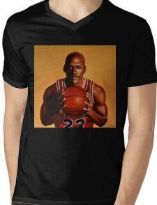 Michael Jordan painting 2 Mens V-Neck T-Shirt