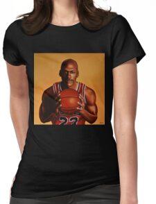 Michael Jordan painting 2 Womens Fitted T-Shirt
